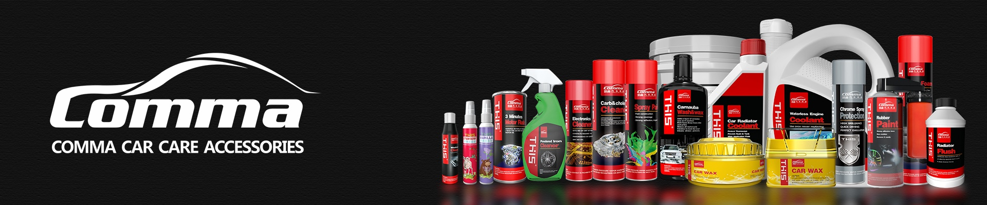 Comma Car Detailing Products