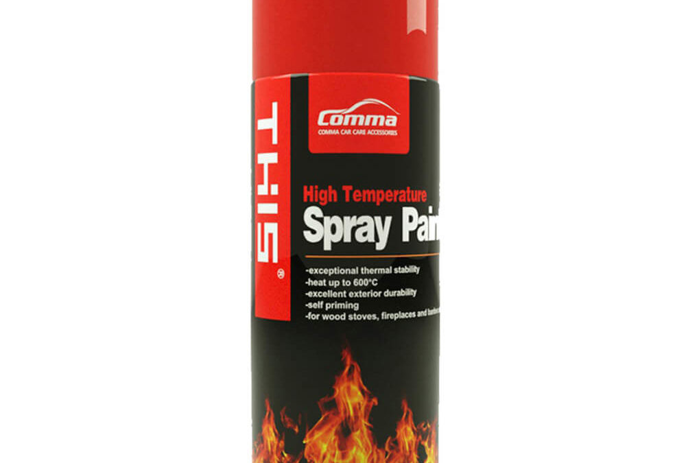 High Temperature Heat Resistant Aerosol Spray Paint – 450ml